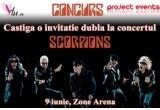 1 x invitatie dubla la concertul Scorpions (gazon B)
