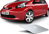 o masina Toyota, 3 x laptop MacBook