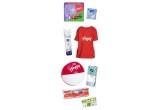 5 x premiu Happy cu scutece + servetele umede + batistute + tricou + minge de plaja + absorbante + absorbante zilnice + dischete demachiante