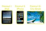 1 x iPad 2, 1 x iPhone 4, 1 x voucher vacanta pe FunDeal.ro