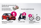o masina Mini One, un scuter Vespa, o bicicleta BMW, 200 euro
