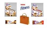 15 x geanta de plaja plina cu batoane Nestle Fitness