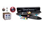 1 x skateboard + titlul de Captain Romania + 2 invitatii duble la film, 4 x Radio Captain America tunat cu terminal pentru mp3 player + 1 invitatie dubla la film, 4 x Freesbees Captain America + breloc Captain America + invitatie dubla la film