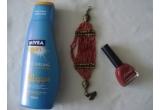 1 x set de produse cosmetice (crema Nivea cu factor de protectie 20 + lac de unghii de la Farmec + bratara)