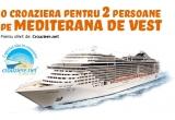 1 x croaziera pe MSC Splendida pentru 2 persoane pe Mediterana de Vest, 10 x enciclopedie Terra, 5 x voucher dublu Wizz Air