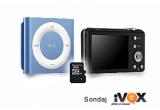 1 x aparat foto digital Samsung ST65 + card de memorie Kingston MicroSD 8 GB + iPod shuffle 2GB