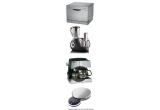 1 x masina de spalat vase cu o capacitate de 6 seturi, 1 x robot de bucatarie Gorenje – 1000 W, 1 x combi expresor si filtru de cafea Ufesa, 1 x cantar de bucatarie Gorenje