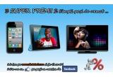 1 x Ipad 2, 1 x Iphone 4, 1 x LCD Panasonic Viera