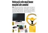2 x televizor LCD Sharp LC19S7EBK, 10 x set Avon, 10 x MP3 Playere Kinetix, 100 x abonament pe 3 luni la revista Autobild