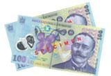 5 x 100 RON, 1 x 300 RON
