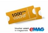1 x voucher de 1000 RON pentru cumparaturi din valabil in magazinele eMAG.ro