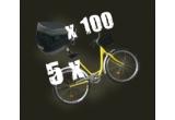 3 x bicicleta, 100 x kit pentru bicicleta(breloc + branda reflectorizanta + sonerie)