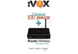 1 x router wireless D-Link + 100 puncte, 10 x 100 de puncte iVox
