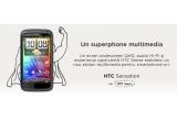 3 x telefon HTC Sensation si/sau o ilustratie creata pe baza fotografiei de profil Facebook