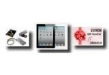 1 x tableta iPAD2 de 16GB, 5 x USB Flash DRIVE breloc extraslim de 4GB, 10 x voucher de 20 RON, 5000 x reducere de 3%