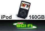 un iPod 160 GB, un iPod de 80 GB, un iPod de 4 GB, 10 x premiu (tricou, pix si lanyard branduite cu AXN SCI FI)