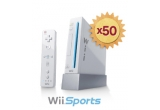 50 x consola Wii Sports