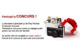 1 x aparat foto digital Canon PowerShot SX210 IS black, 1 x Elicopter radiocomandat Fox, 1 x Set 6 masinute Carama, 1 x Roary, papusa vorbitoare, 1 x Papusa baby mini chou chou, 1 x Papusa Sandman, 1 x Joc Comoara lui Piticot 3D