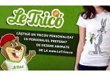 1 x tricou personalizat oferit de LeTrico.ro