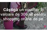 "4 x voucher de 300 lei pe <a href=""http://www.papucei.ro"" target=""_blank"" rel=""nofollow"">Papucei.ro<br /> </a>"