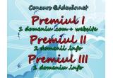 1 x domeniu gratuit (.com/.net/.org la alegere) și crearea unui site de tip personal/prezentare și/sau blog (la alegere - website-uri de tip E-Commerce sau Business se fac contra-cost), 1 x inregistrarea a doua domenii .info gratuite cu servicii de tip Nameservers forwarding, 1 x inregistrarea a unui domeniu .info gratuit cu servicii de tip Nameservers forwarding