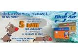 1 x bilete de avion dus-intors pentru una dintre rutele operate de Blue Air + cazare, 100 x produs promotional