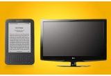 1 x TV LCD LG, 1 x e-book Kindle