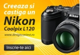 1 x aparat foto Nikon Coolpix L120 + postarea lucrarii pe blogout.ro