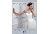 1 x voucher de 800 Euro pentru o rochie de mireasa din colectia BIEN SAVVY 2012 + servicii VIP BIEN SAVVY + accesorizarea rochiei cu numarul de cristale Swarovski pe care il va strange promisiunea castigatoare