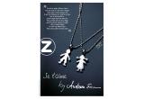 """2 x colier din argint lucrate manual din colectia de bijuterii """"Je t""""aime by Andreea Esca"""""""