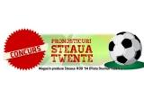 1 x fanion Steaua semnat de Ciprian Tatarusanu + un breloc, 1 x carte postala cu autograf + breloc