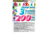 33 x vouchere de cumparaturi de 200 RON fiecare