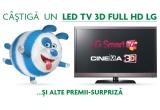 1 x televizor LED TV 3D FULL HD LG, 10 x memory stick 4 GB