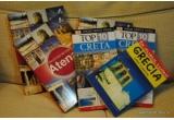 """1 x ghid turistic """"Grecia  - In Jurul lumii"""" de la Editura Vremea, 2 x ghid turistic """"Top 10 – Creta"""" de la Editura Litera, 3 x ghid turistic """"Destinatii de top – Atena"""" de la Editura Ad Libri"""