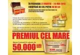 1 x 50.000 RON, 72 x voucher de cumparaturi in valoare de 200 RON valabile in magazinele Penny Market si Penny Market XXL, 45 x voucher 1000 RON, 30.000 x banut penny pentru carucioarele de cumparaturi