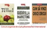 "cartea ""Guerrilla Marketing"" de Jay Conrad Levinson + cartea ""Cum sa vinzi orice oricui"" de Joe Girard + cartea ""Tu esti numarul 1"" de Iuliana Enache"