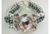 1 x bratara unicat din perle si cristale