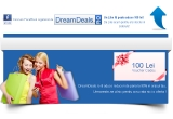 1 x credite in valoare de 100 Lei pe site-ul www.dreamdeals.ro
