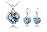1 x set de bijuterii cu cristale Swarovski