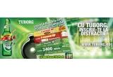 10.000 x pachet care contine 6 doze Tuborg de 0,5l, 3.100 x bilet (abonament pentru 3 zile) la festivalul Tuborg Greenfest care va avea loc in perioada 29 iunie – 1 iulie 2012 la Romexpo Bucuresti, 9 x pachet VIP la unul dintre festivalurile internationale Reading (Anglia), Roskilde (Danemarca) sau Tuborg Greenfest (Rusia), 300 x bilet (abonament pentru 3 zile) la festivalul Tuborg Greenfest Romania care va avea loc in perioada 29 iunie – 1 iulie 2012 la Romexpo Bucuresti,