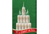 """10 x premiu constand intr-un """"castel de bere"""" format din 10 doze de bere Silva"""