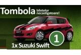 3 x tableta Samsung P6200 galaxy Tab Plus, 1 x 2 bilete de acces la finala Campionatului European de Fotbal EURO 2012 de la Kiev, 1 x autovehicul Suzuki Swift