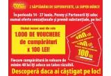 1000 x voucher de cumparaturi de 100 RON