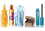 10 x set Avon format din Spray pentru protectie solara SPF 30 + Apa de toaleta Miami Party + Mascara rezistenta la apa Supershock MAX + Lotiune usoara de zi Anew Aqua Youth + Set de cercei Treasures of the Sea