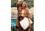 1 x portofel material textil si piele cu logo Coccinelle, 1 x colier fin si distins potrivit tinutelor acestei veri, 1 x portofel din piele maro