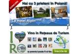 1 x sejur de 2 nopti pentru 4 persoane la in Poiana Brasov la Hotel Alpin 4*, 1 x tricou 2rism.ro zilnic