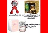 un parfum Femme l'eau fraîche by BOSS, un ceas Nescafe, un borcan Nescafe Gold si tablete de menta after eight, (+o sedinta foto, o coafura inspirata si un machiaj de zi)