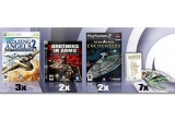 trei jocuri Blazing Angels 2: Secret Missions of WWII pentru Xbox 360, dou&#259; jocuri Brothers in Arms: Hell&rsquo;s Highway pentru PlayStation 3, dou&#259; jocuri Star Trek: Encounters pentru PlayStation 2 &#351;i &#351;apte pachete de c&#259;r&#355;i de tarot Heroes of Might &amp; Magic V<br />