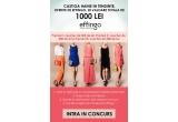 1 x voucher pentru haine in valoare de 500 lei, 1 x voucher pentru haine in valoare de 300 lei, 1 x voucher pentru haine in valoare de 200 lei