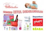 5 x Kitul Bebelusului ce cuprinde produse pentru bebelus de la Happy, Beaba si Bayer, 1 x Carucior Mosaic TS Mode Noir Graco